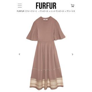 fur fur - FURFUR プリーツスリーブニットワンピース