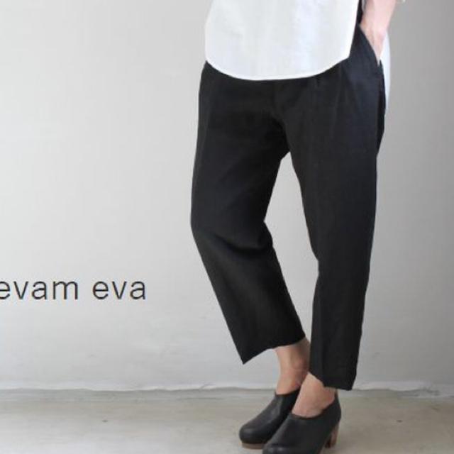 evam eva(エヴァムエヴァ)のevam eva linen pants レディースのパンツ(クロップドパンツ)の商品写真