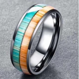 オレンジ×グリーン タングステンリング(リング(指輪))