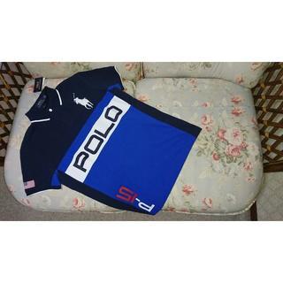 ラルフローレン(Ralph Lauren)の新品☆ラルフローレン ポロシャツ POLO 紺&青  US S(ポロシャツ)