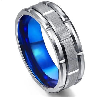 ブルー×タングステン リング(リング(指輪))