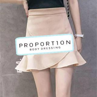 PROPORTION BODY DRESSING - 🌸本日まで50〜70%OFFタイムセール🌸フリル ミニスカート プロポ