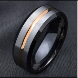 ブラック×ローズゴールド リング(リング(指輪))