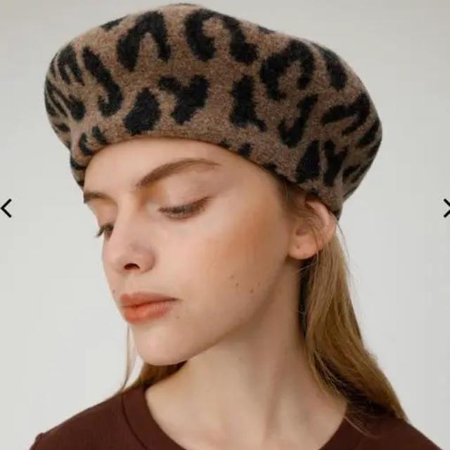 moussy(マウジー)のmoussy ベレー帽 レオパード  レディースの帽子(ハンチング/ベレー帽)の商品写真