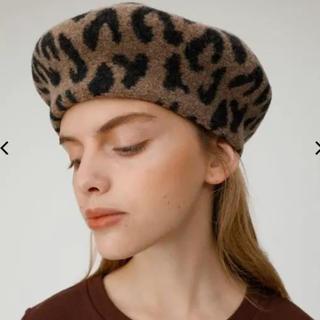 moussy - moussy ベレー帽 レオパード