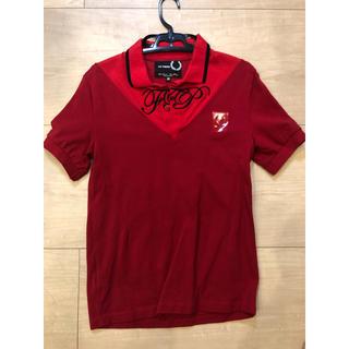 ラフシモンズ(RAF SIMONS)の【ラフシモンズ×フレッドペリー 2019ss ポロシャツ】(38size)赤色(ポロシャツ)