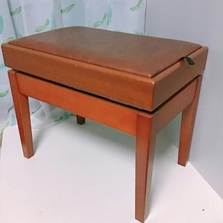 ピアノ椅子 ヤマハ 電子ピアノ チェアー 木目 茶色 ブラウン 高さ調整可能(電子ピアノ)