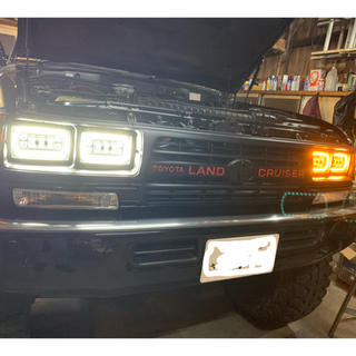 トヨタ - ランクル80 角目4灯 社外LEDライト 希少グリル