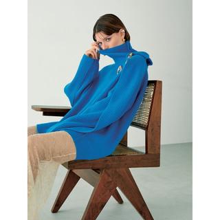 ENFOLD - ◆新品タグ付き・入手困難◆ IRENE 畦ニット ブルー 36 ENFOLD