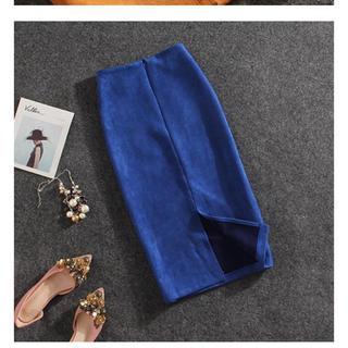 dholic - ペンシルスカート ブルー 新品