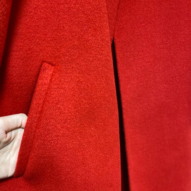 ZARA(ザラ)の【新品】ZARA 薄手ウール ノーカラーコート(S~M) メンズのジャケット/アウター(チェスターコート)の商品写真