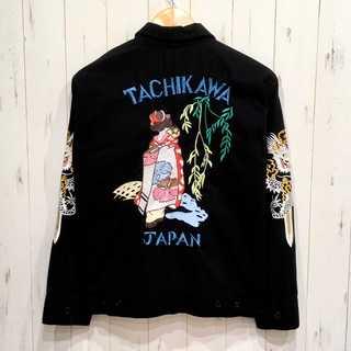 THE FLAT HEAD - FLAT HEAD  龍 舞子 刺繍 スーベニアジャケット ブルゾン