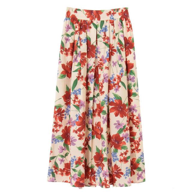 31 Sons de mode(トランテアンソンドゥモード)の【新品未使用】 トランテアンソンドゥモード 花柄スカート レディースのスカート(ひざ丈スカート)の商品写真