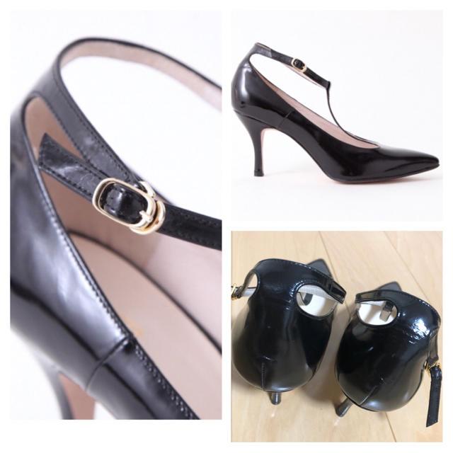 AU BANNISTER(オゥバニスター)のAu BANNISTER◆Tストラップパンプス レディースの靴/シューズ(ハイヒール/パンプス)の商品写真