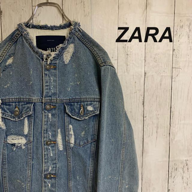 ZARA(ザラ)の【イチGO様専用】ZARA  ザラ デニムジャケット メンズのジャケット/アウター(Gジャン/デニムジャケット)の商品写真