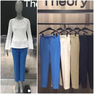 theory -  theory 新品タグ付き 18SS クロップドパンツ  ブルー2
