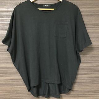 しまむら - しまむら AZUL 両肩ジップ ドルマンTシャツ 黒 Mサイズ