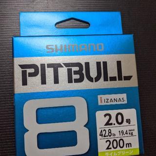 シマノ(SHIMANO)のシマノ ピットブル8 2.0号 200m ライムグリーン PEライン (釣り糸/ライン)