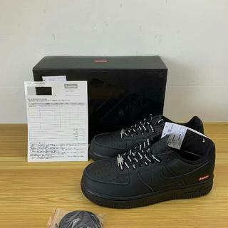 ナイキ(NIKE)の25.5cm  シュプリーム Nike Air Force 1 Low 黒(スニーカー)