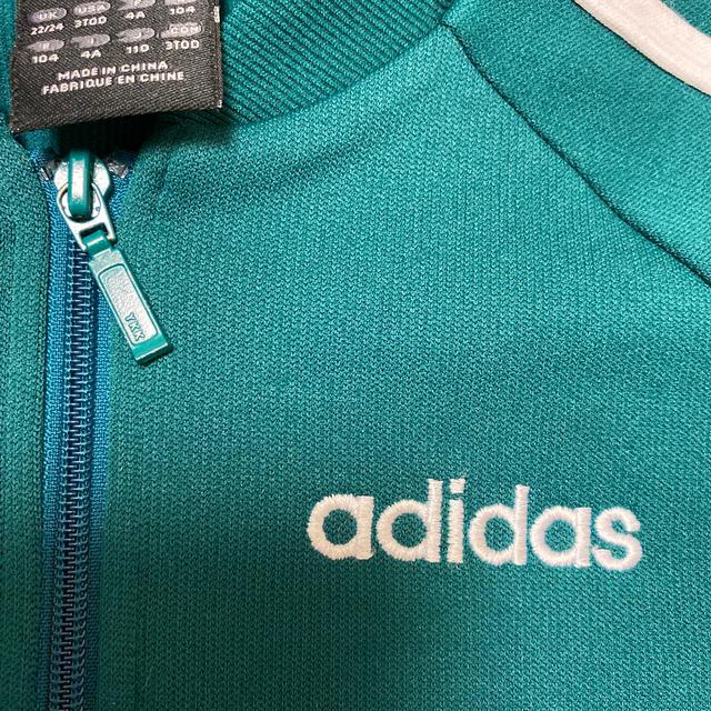 adidas(アディダス)のadidas ジャージ 110 グリーン キッズ/ベビー/マタニティのキッズ服男の子用(90cm~)(ジャケット/上着)の商品写真