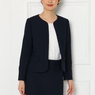 スーナウーナ(SunaUna)のSunaUna 新品size40ジャケットネイビー(ノーカラージャケット)