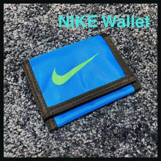 ナイキ(NIKE)のNIKE 廃盤 90s ウォレット 折りたたみ財布 財布 新品未使用 廃盤 青(折り財布)