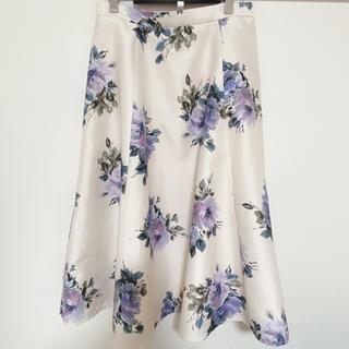 JUSGLITTY - JUSGLITTY◆ブーケフラワープリントスカート◆2 Mサイズ