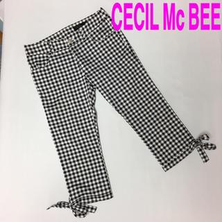 CECIL McBEE - CECIL Mc BEE セシルマクビー パンツ ブラック ホワイト チェック