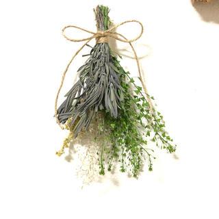 [6月セール]ラベンダーのグリーンスワッグ シンプル ナチュラル 花材 素材 N(ドライフラワー)