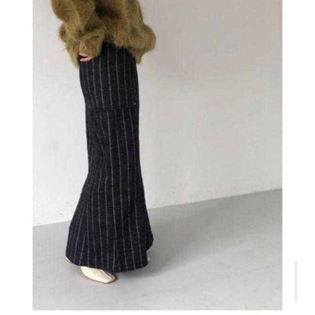 TODAYFUL(トゥデイフル)のtodayful Jacquard stripe skirt NAVY 36 レディースのスカート(ロングスカート)の商品写真