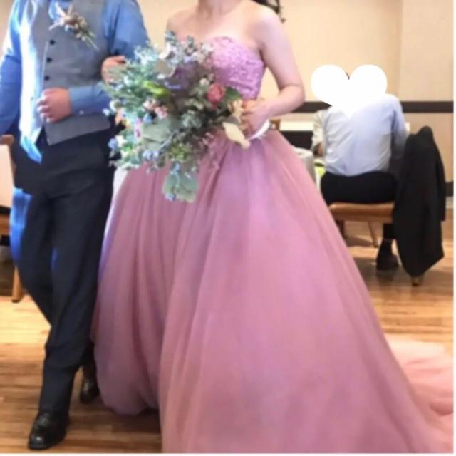 カラードレス ウェディングドレス ドレス レディースのフォーマル/ドレス(ウェディングドレス)の商品写真