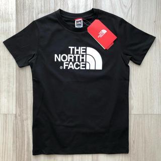 THE NORTH FACE - 【海外限定】新作 TNF ノースフェイス キッズ ロゴTシャツ ブラック 140