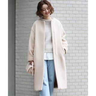 IENA - 新品 IENA イエナ  ラムウール ノーカラー ロング コート ◆