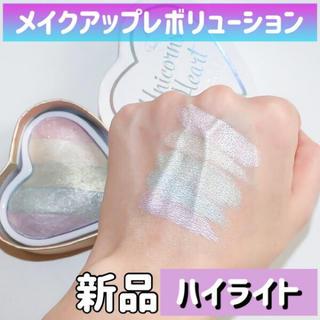 colourpop - メイクアップレボリューション★ユニコーンハート★レインボーハイライトアイシャドウ