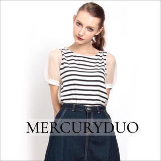 MERCURYDUO - MERCURY DUO サイド オーガンジー カットソー♡スナイデル ダズリン