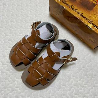 Caramel baby&child  - 未使用★ソルトウォーターサンダル シャーク shark tan 8