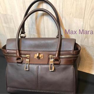 Max Mara - 【使用3回の超美品】マックスマーラ ブラウン 本革 ハンドバッグ