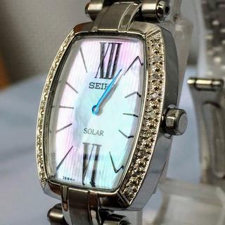 セイコー(SEIKO)のSEIKO セイコー 女性用腕時計 レディース ソーラー SUP283 パール(腕時計)
