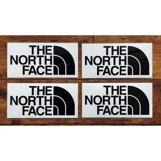 THE NORTH FACE - ノースフェイス カッティングステッカー ブラック 4枚セット