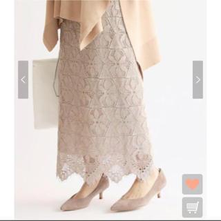 IENA - 美品 今期 レースタイトスカート