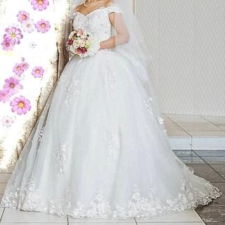 ウエディングドレス YNS オフショルダー パニエ ベール 結婚式 まとめ売り