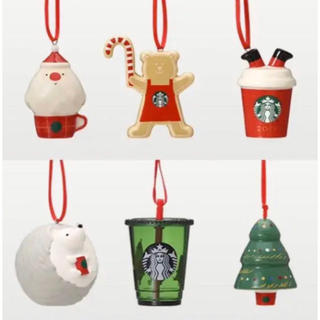スターバックスコーヒー(Starbucks Coffee)のレア! スターバックス クリスマス オーナメント コンプリート セット スタバ(置物)