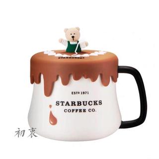 Starbucks Coffee - 蓋付!マグカップ ベアリスタ タンブラー 熊 台湾スターバックス シリコンカバー
