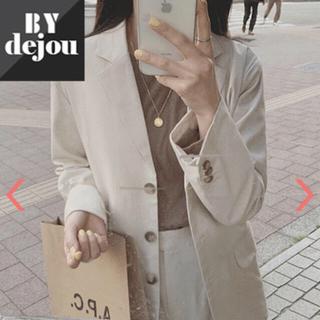 dholic - Dejou 麻混テーラードジャケット
