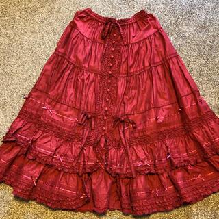 PINK HOUSE - ピンクハウス 大人気サテンリボン付き ロングスカート 未使用