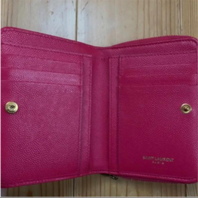 Saint Laurent(サンローラン)のサンローラン  ピンク ミニ財布 箱付き レディースのファッション小物(財布)の商品写真