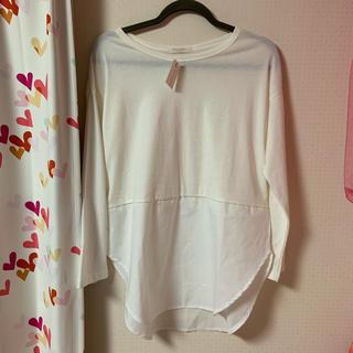 ショコラフィネローブ(chocol raffine robe)のchocol raffine 裾切替ロンT フリーサイズ 新品(カットソー(半袖/袖なし))