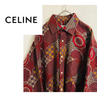 celine - 【正規品!】【100%cotton】【CELINE】柄シャツ