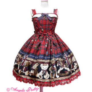 Angelic Pretty - ★Angelic Pretty British Bear JSK ワイン
