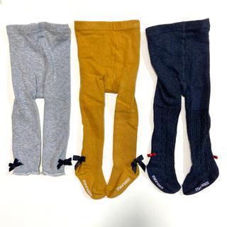 petit main - 【75cm】ウタカタデコ タイツ+スパッツ 3本セット